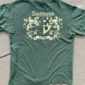 Guinness Official Army Green Tee Men's Small